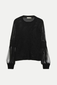 Bottega Veneta - Metallic Crochet-knit And Chainmail Sweater - Black