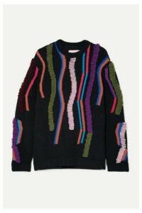 Peter Pilotto - Wool-blend Jacquard Sweater - Navy