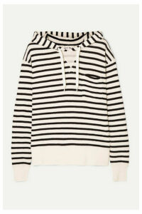 Alex Mill - Striped Cotton-jersey Hoodie - White