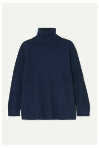 L.F.Markey - Theo Oversized Wool-blend Turtleneck Sweater - Navy