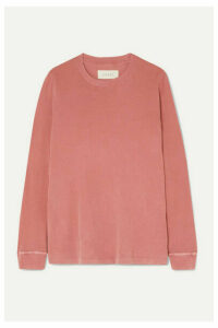 The Great - The Long Sleeve Cotton-jersey Top - Pastel pink