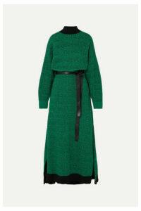 Stella McCartney - Striped Wool Midi Dress - Green