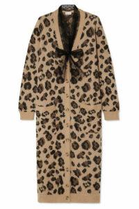REDValentino - Leopard-jacquard Cotton-blend Cardigan - Brown