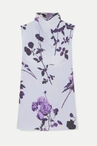 Dries Van Noten - Chiara Floral-print Crepe Top - Lilac