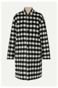 Mansur Gavriel - Reversible Checked Wool Coat - Black