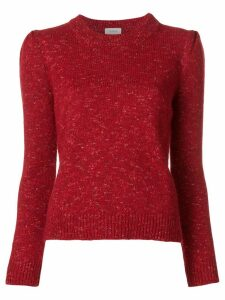 Isa Arfen speckle detail sweater - Red