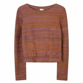 STUDIO MYR - Boatneck Wool Jumper In Audrey Hepburn Style Tweed-Heather