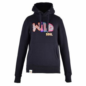 blonde gone rogue - Wild Soul Organic Cotton Hoodie In Black