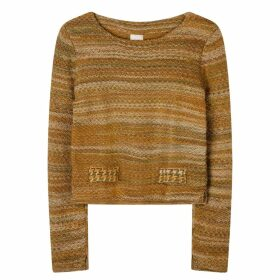 STUDIO MYR - Boatneck Wool Jumper In Audrey Hepburn Style Tweed- Moss.