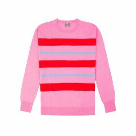 Orwell + Austen Cashmere - Purl Stripe Knit In Pink