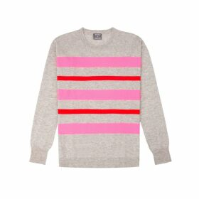 Orwell + Austen Cashmere - Purl Stripe Knit In Grey