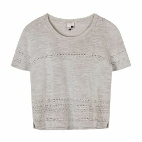 STUDIO MYR - Short Sleeve Merino Jumper With Lace Details Sweety