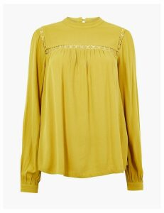 M&S Collection Lace Insert Shell Top