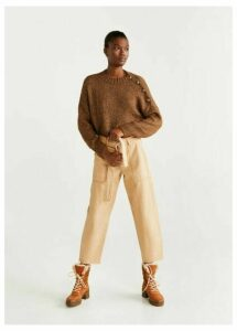 Metallic-knit sweater