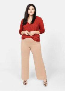 Contrast texture blouse