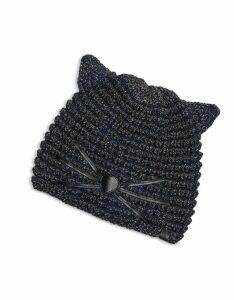 Karl Lagerfeld Designer Women's Hats, Choupette Lurex Beanie