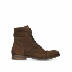 Aldo Adrein Lace Up Boot - Tan Suede Lace Up Biker Boots