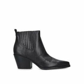 Sam Edelman Winona - Black Cuban Heel Western Style Ankle Boots
