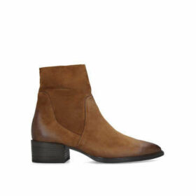 Paul Green Dory - Brown Suede Western Style Ankle Boots