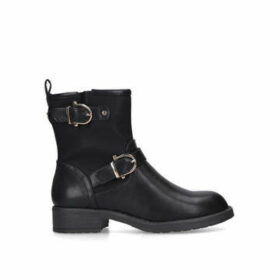 Miss KG Sophy - Black Ankle Boots With Buckle Detail