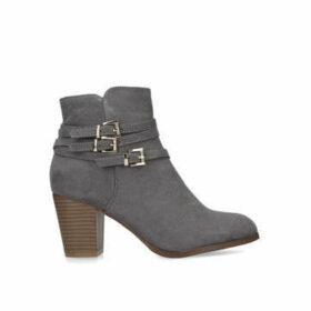Miss Kg Heidi - Taupe Block Heel Ankle Boots