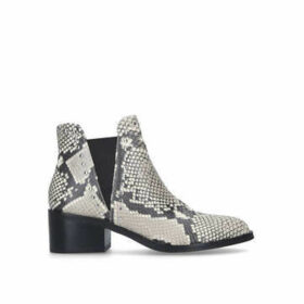 Steve Madden Cade - Snake Print Studded Block Heel Ankle Boots