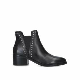 Steve Madden Cade - Black Studded Block Heel Ankle Boots