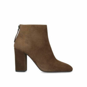Ash Joy - Brown Block Heel Ankle Boots