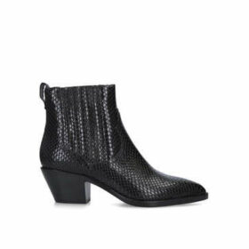 Ash Floyd Bis - Black Snake Print Western Style Ankle Boots