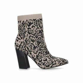 Vince Camuto Setillen - Leopard Print Block Heel Sock Boots