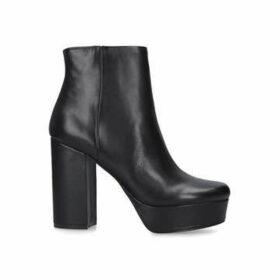 Steve Madden Gratify - Black Platform Block Heel Ankle Boots