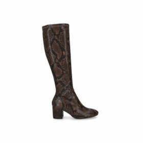 Aldo Larigonna - Snake Print Block Heel Knee High Boots