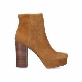 Steve Madden Gratify - Tan Platform Block Heel Ankle Boots