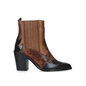 Kurt Geiger London Damen - Tan Snake Detail Western Boots