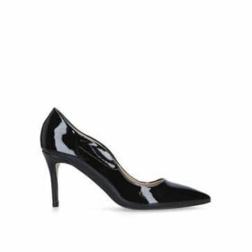 Miss KG Corinthia Wide Fit - Wide Fit Black Patent Mid Heel Court Shoes