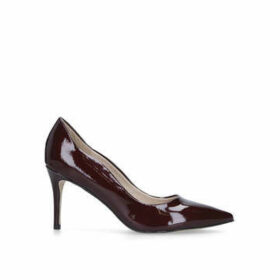 Miss KG Corinthia - Wine Patent Mid Heel Court Shoes