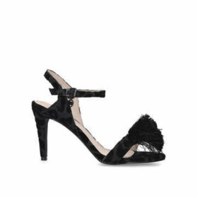 Miss KG Perry - Black Strappy Sandals With Tassel Detail