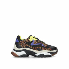 Ash Addict - Leopard Print Lace Up Chunky Trainers