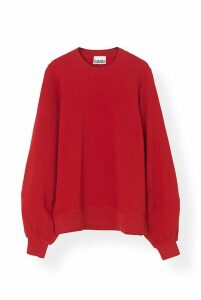 Ganni Isoli Sweatshirt in Samba - M Red