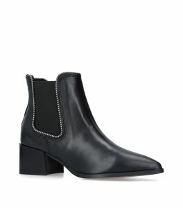 Leather Spire Ankle Boots 50
