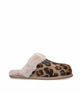 Leopard Print Scuffette II Slippers