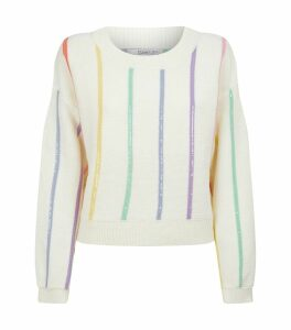 Hallie Sequin Striped Sweater
