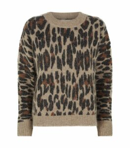 Lana Leopard Print Sweater