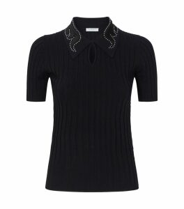 Embellished Polo Shirt