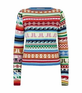 Abstract Pattern Knitted Sweater