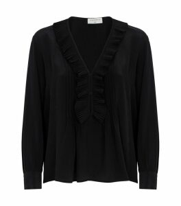 Ruffle Trim Blouse