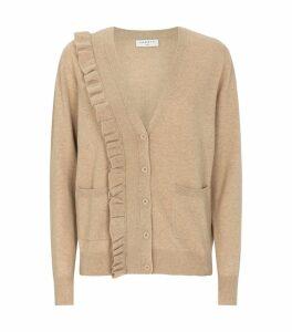 Ruffle Wool-Cashmere Cardigan