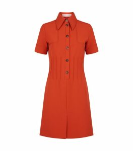 Buttoned Pintuck Dress