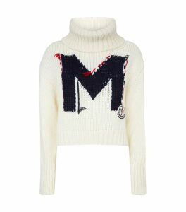 Knitted Turtleneck Logo Sweater