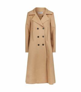 Wool-Cashmere Swing Coat